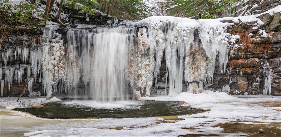 Christman Sanctuary Winter Waterfall