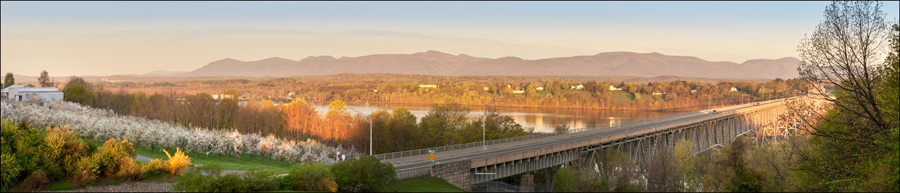 Catskill Mountain Sunrise from Hudson Bridge