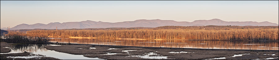 Catskill Mountain Sunrise from Greenport Conservation Area