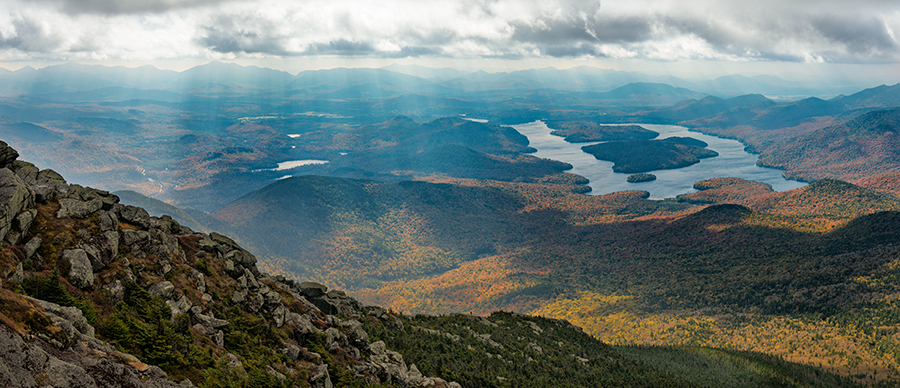 Lake Placid and High Peaks from Whiteface Mountain